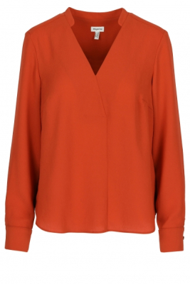 Blouse in crêpe met losse fit