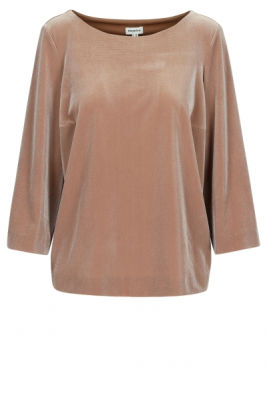 Boxy blouse in structuurvelours