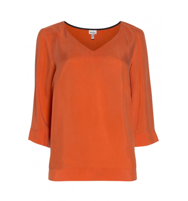 Wijde blouse <br />in cupro